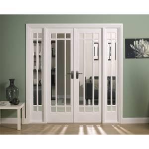 Manhattan Internal Glazed Primed White Room Divider - 1904 x 2031mm