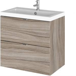 Balterley Dynamic 600mm Wall Hung Vanity Unit with Basin - Driftwood