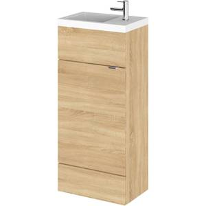 Balterley Dynamic 400mm Compact Vanity Unit with Basin - Natural Oak