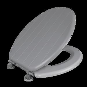 Allana Tongue & Groove Grey Toilet Seat