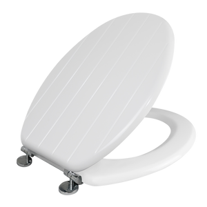 Allana Tongue & Groove White Toilet Seat
