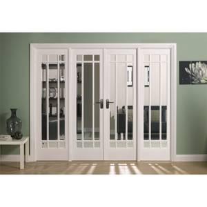 Manhattan Internal Glazed Primed White Room Divider - 2478 x 2031mm
