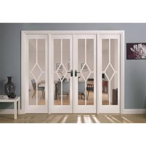 Reims Internal Glazed Primed White Room Divider - 2478 x 2031mm