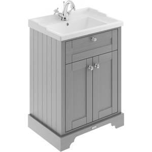 Balterley Harrington 600mm Cabinet With 1 Tap Hole Basin - Grey
