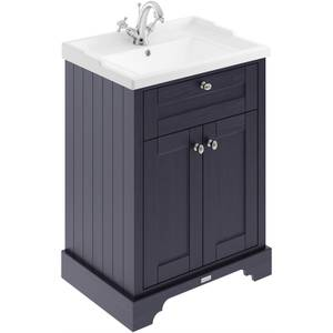 Balterley Harrington 600mm Cabinet With 1 Tap Hole Basin - Blue