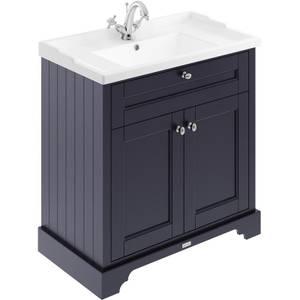 Balterley Harrington 800mm Cabinet With 1 Tap Hole Basin - Blue