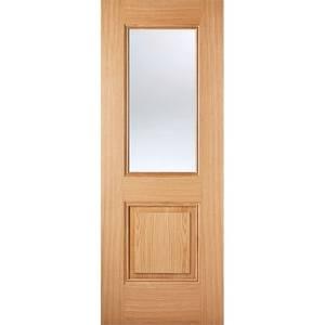 Arnhem Internal Glazed Prefinished Oak 1 Lite 1 Panel Door - 686 x 1981mm