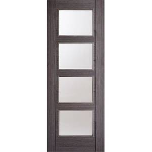 Vancouver Internal Glazed Prefinished Ash Grey 4 Lite Door - 686 x 1981mm