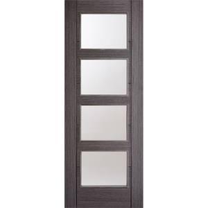 Vancouver Internal Glazed Prefinished Ash Grey 4 Lite Door - 838 x 1981mm