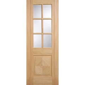 Barcelona Internal Glazed Prefinished Oak 6 Lite 1 Panel Door - 686 x 1981mm
