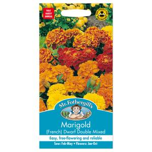 Mr. Fothergill's French Marigold Dwarf Double Mixed Seeds