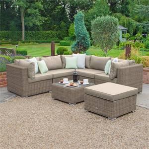 Nova Chester Rattan Corner Sofa Set in Natural