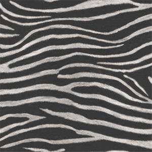 Arthouse Serengeti Zebra Print Textured Glitter Gel Black and White Wallpaper