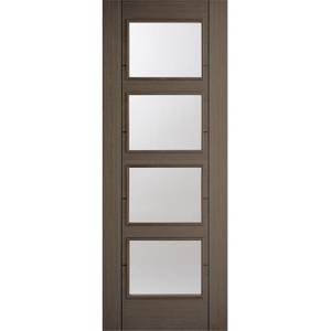 Vancouver Internal Glazed Prefinished Chocolate Grey 4 Lite Door - 762 x 1981mm