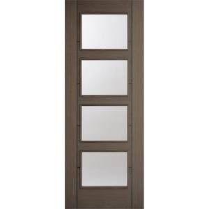 Vancouver Internal Glazed Prefinished Chocolate Grey 4 Lite Door - 838 x 1981mm