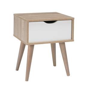 Scandi 1 Drawer Lamp Table - White