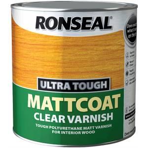 Ronseal UltraTough Matt Coat Clear Varnish - 2.5L