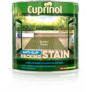 Cuprinol Anti Slip Decking Stain Golden Maple - 2.5L