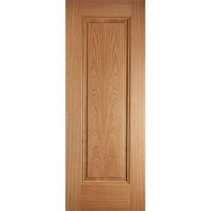 Eindhoven Internal Prefinished Oak 1 Panel Fire Door - 686 x 1981mm