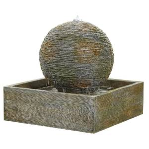 Stylish Fountain Dark Planet Water Feature with LEDs