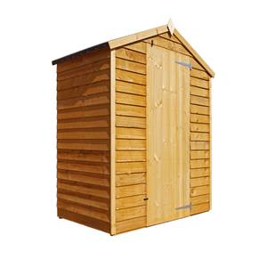 Mercia (Installation Included) 5x3ft Overlap Apex Windowless Shed