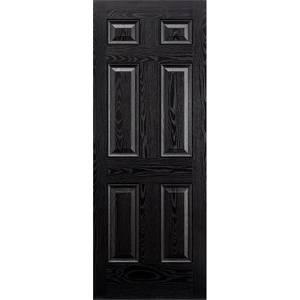 Colonial External Black GRP 6 Panel Door - 838 x 1981mm