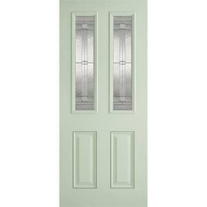 Malton External Glazed Light Green GRP 2 Lite Door - 838 x 1981mm