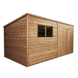 Mercia (Installation Included) 14x8ft Pressure Treated Pent Shed