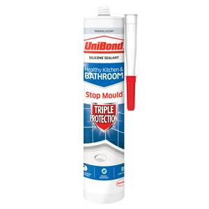 UniBond Bathroom & Kitchen Triple Protect Sealant Translucent 291g
