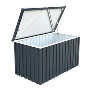 Sapphire Metal Cushion Storage Box 4 x 2 Grey