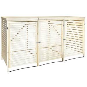Charles Bentley FSC Wooden Triple Bin Store