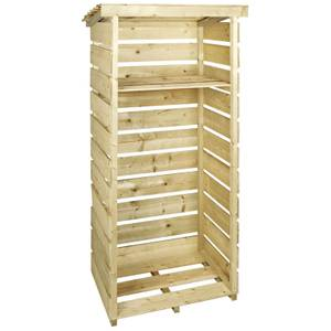 Charles Bentley FSC Wooden Single Tall Log Store