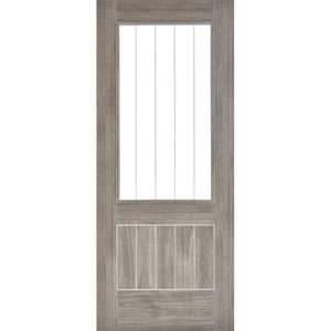 Mexicano Internal Glazed Light Grey Laminate 1 Lite Door - 838 x 1981mm