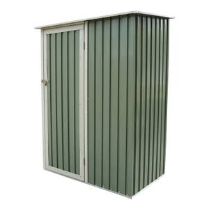 Charles Bentley 4.7ft x 3ft Green Metal Storage Shed