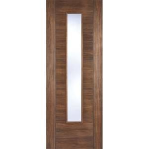 Vancouver Internal Glazed Walnut Laminate 1 Lite Door - 686 x 1981mm