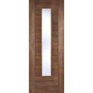 Vancouver Internal Glazed Walnut Laminate 1 Lite Door - 762 x 1981mm