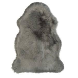 Faux Fur Sheepskin Rug - Silver Grey
