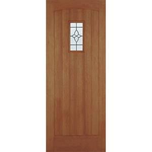 Cottage External Glazed Unfinished Hardwood 1 Lite Door - 762 x 1981mm