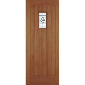 Cottage External Glazed Unfinished Hardwood 1 Lite Door - 915 x 2135mm