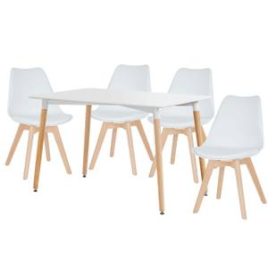 Chloe 4 Seater Dining Set - White