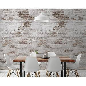 Grandeco Bricks Light Grey Digital Wallpaper Mural