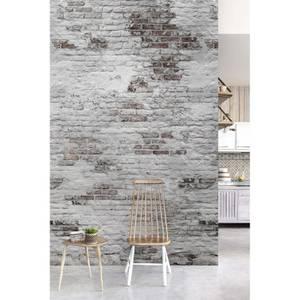 Grandeco Bricks Mid Grey Digital Wallpaper Mural