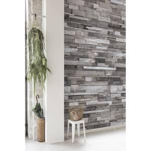 Grandeco Wood Effect Grey Digital Wallpaper Mural