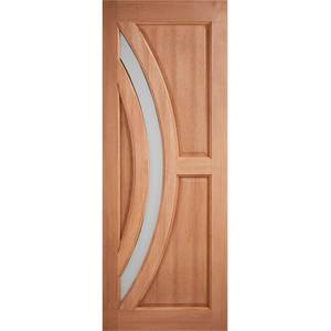 Harrow External Glazed Unfinished Hardwood 1 Lite Door - 838 x 1981mm