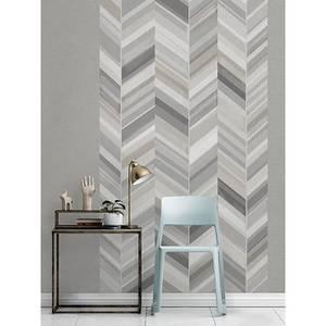 Grandeco Chevron Grey Digital Wallpaper Mural