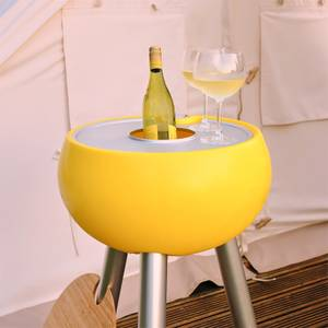 Outside Gang Homebird Outdoor Cool Box Table Integrated Ice Bucket - Egg Yolk