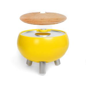 Outside Gang Freebird Outdoor Cool Box Table Integrated Ice Bucket - Egg Yolk