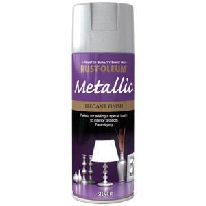 Rust-Oleum Silver - Metallic Spray Paint - 400ml