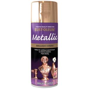 Rust-Oleum Bright Copper - Metallic Spray Paint - 400ml