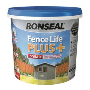 Ronseal Fence Life Plus 5L - Slate
